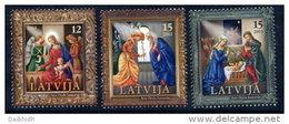 LATVIA 2003 Christmas Set Of 3  MNH / **.  Michel 600-02 - Lettonie
