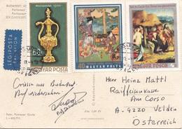 UNGARN 1972 - 3 Sondermarken Auf Ak BUDAPEST Parlament - Ungarn