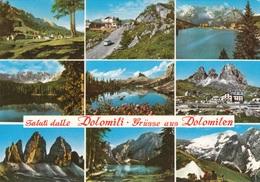 ITALIEN 1973 - 4 Fach Frankierung Auf Ak DOLOMITI - Philatelistische Karten