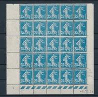 CR-210: FRANCE: Lot Avec N°140 Bloc De 25 Avec CD Du6/10/24 (* Hors Timbres) - 1906-38 Säerin, Untergrund Glatt
