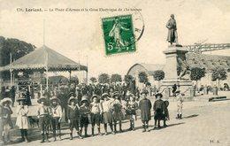 56  LORIENT   LA PLACE D'ARMES ET LA   GRUE ELECTRIQUE  DE 150 TONNES - Lorient