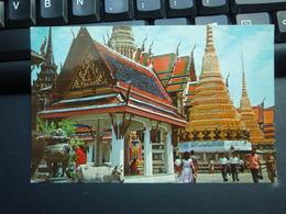 Inside The Temple Of The Emerald Budha Bangkok-Thaïland Belle Carte. - Thailand