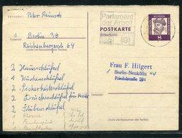 """Berlin / 1966 / Postkarte (Antwortteil) Mi. P 59 A, Masch.-Stempel Berlin """"Parlament Der Arbeit"""" (17341) - Berlin (West)"""
