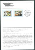 """Italia 1996; Bollettino Ufficiale Delle Poste Italiane: """"Fumetti: Tex Willer E Corto Maltese"""" - 1946-.. République"""