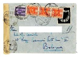BUSTA AFFRANCATA CON 1 LIRA POSTA AEREA RODI E TASSATA PER L 3,50- POSTA MILITARE 62 – APRILE 1942 (15/39) - Egée