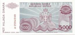 Bosnia And Herzegovina 5000 Dinara 1993. P-149 - Bosnia Erzegovina
