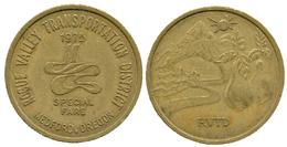 03882 GETTONE TOKEN JETON TRASPORTI TRANSPORT OREGON MEDFORD 1975 - Non Classificati