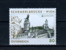 """Österreich 2018:  """"EUROPA - Schemerlbrücke Wien"""" Postfrisch (siehe Foto) - 1945-.... 2ème République"""