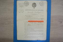 Document RESTAURATION DOUANES DIRECTION DE DUNKERQUE 1816 LOUIS XVIII DOUANIERS GABELOUS. - Documents Historiques