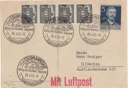 ALLEMAGNE BERLIN IMPRIME AU TARIF PA INTERIEURE CACHET ILLUSTRE SEGELFLUGSCHULE VOL A VOILE PLANEUR - Transports