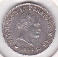 Napoleone / Napoléon I. 10 Soldi 1811 M Milano, En Argent . TTB - Temporary Coins