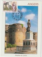 Carte-Maximum FRANCE N°Yvert 4326 (ANGERS - Château Et Roi René)  Obl Ord Angers (Ed Compa) - 2000-09