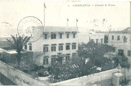 CASABLANCA CONSULAT DE FRANCE Trésor Et Postes Mogador 1913 RRR - Casablanca