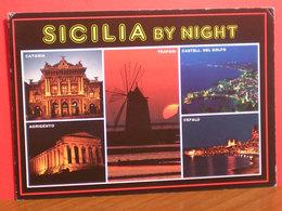 Sicilia By Night Vedute  Cartolina Viaggiata - Italia