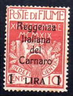 Sello  Nº 127  Fiume - 8. WW I Occupation