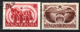 UNGHERIA - 1950 - CONGRESSO DELLA FEDERAZIONE SINDACALE MONDIALE - USATI - Ungheria