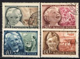 UNGHERIA - 1950 - GIORNATA INTERNAZIONALE DELL'INFANZIA - USATI - Ungheria