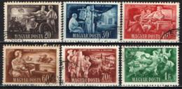 UNGHERIA - 1951 - 1° ANNO DEL PIANO DI SVILUPPO QUINQUENNALE - USATI - Ungheria