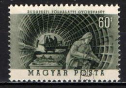 UNGHERIA - 1953 - 5° ANNIVERSARIO DEL CANTIERE PER LA COSTRUZIONE DELLA METROPOLITANA DI BUDAPEST - USATO - Ungheria