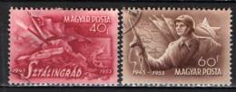 UNGHERIA - 1953 - 10° ANNIVERSARIO DELLA BATTAGLIA DI STALINGRADO - USATI - Ungheria