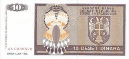 Bosnia And Herzegovina 10 Dinara 1993. UNC P-133 - Bosnia Erzegovina