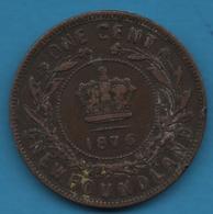 CANADA NEWFOUNDLAND 1 CENT 1876 H Victoria  Terre-Neuve - Canada