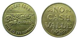 04101 GETTONE TOKEN JETON VENDING PIZZA TOKEN THE BIG CHEESE PIZZA CO. UìYUCAIPA CA NO CASH VALUE - Estados Unidos