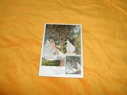CARTE POSTALE 1ER JOUR DE 1972./ CLAUDE MONET AU JARDIN...CACHET PARIS + TIMBRE - Maximum Cards