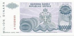 Bosnia And Herzegovina 1.000.000 Dinara 1993. UNC P-152 - Bosnië En Herzegovina
