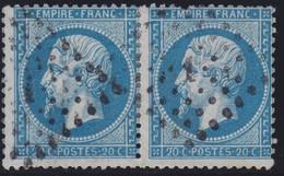 N°22 Paire Position 103D3 104D3, Pas Facile De La Positionner, TB - 1862 Napoléon III