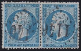 N°22 Paire Position 104D3 105D3, Pas Facile De La Positionner, TB - 1862 Napoléon III