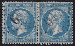 N°22 Paire Position 106D3 107D3, Pas Facile De La Positionner, TB - 1862 Napoléon III