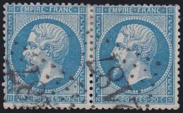 N°22 Paire Position 114D3 115D3, Pas Facile De La Positionner, TB - 1862 Napoléon III