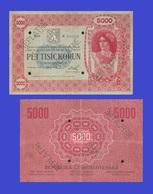Czechoslovakia 5000   KORUN 1919 - Czechoslovakia