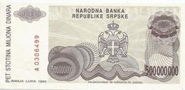 Bosnia And Herzegovina 500.000.000  Dinara 1993. P-155 - Bosnië En Herzegovina