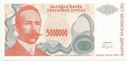 Bosnia And Herzegovina 5.000.000 Dinara 1993. UNC P-153 - Bosnia Erzegovina