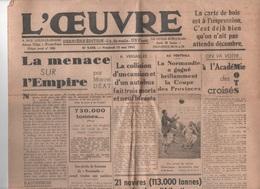 L'OEUVRE 15 05 1942 - MARCEL DEAT - VERSAILLES - ANTILLES - MEUDON - PAPE - - Libri, Riviste, Fumetti