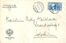 "Ausland Brief  ""Savoy Hotel, Nervi (Genova)"" - Solothurn             1931 - Oblitérés"