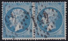 N°22 Paire Position 119D3 120D3, Pas Facile De La Positionner, TB - 1862 Napoléon III