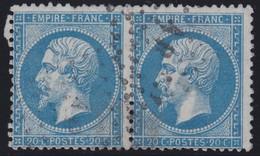 N°22 Paire Position 123D3 124D3, Pas Facile De La Positionner, TB - 1862 Napoléon III