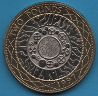 GB 2 POUNDS 1997 Elizabeth II  KM# 976  Bi-métallique - 2 Pounds