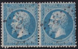 N°22 Paire Position 129D3 130D3, Pas Facile De La Positionner, TB - 1862 Napoléon III