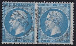 N°22 Paire Position 118D3 119D3, Pas Facile De La Positionner, TB - 1862 Napoléon III