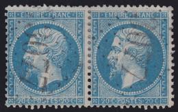N°22 Paire Position 132D3 133D3, Pas Facile De La Positionner, TB - 1862 Napoléon III