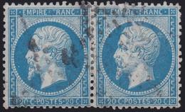 N°22 Paire Position 136D3 137D3, Pas Facile De La Positionner, TB - 1862 Napoléon III