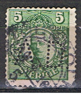 (SUE 12) SVERIGE // YVERT 62 // PERFORE / PERFIN // 1910-17 - Usados