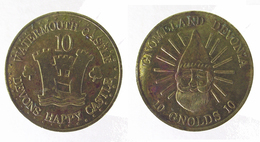 00908 GETTONE TOKEN JETON AMUSEMENT CENTER WATERMOUTH CASTLE DEVONS HAPPY CASTLE GNOMELAND DEVONIA - United Kingdom