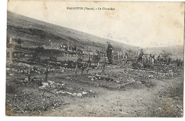 55 MARBOTTE LE CIMETIERE 1915 CPA 2 SCANS - Altri Comuni