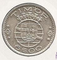 TIMOR 6 ESCUDOS 1958 SILVER 7g*0.6500 Silver DIFICIE - Timor