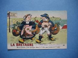 CARTE ILLUSTRATEUR  - La BRETAGNE  -  Marie Jeanne  -  HUMORISTIQUE - Illustrateurs & Photographes